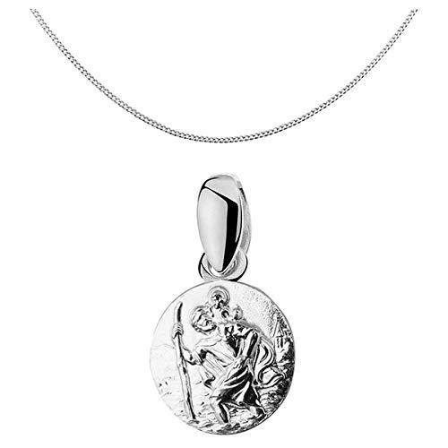 Collier Pendentif Médaille Saint Christophe Argent Massif 92