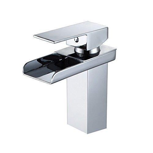 Grifo monomando para lavabo cromado, con manguera de entrada, dise/ño /único Wovier Commercial