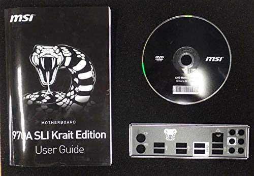 MSI 970A SLI Krait Edition - Handbuch - Blende - Treiber CD