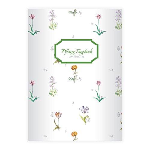 Kartenkaufrausch Elegante Lilliput DIN A4 schoolschrift, schrijfschrift met bloemen/tulpen en Nederlandse tekeningen op witte liniatuur 20 (blanco boekje) vintage 2 Hefte mit Namen wit