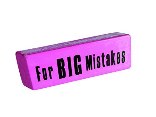 Nodshop - Goma gigante con mensaje'para grandes errores' en inglés (13,5 cm),...