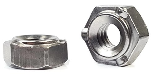Hex Weld Nuts Steel Short Pilot 3 Projections - UNC Coarse Sizes - QTY 250 (5/16