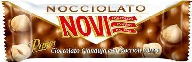 NOVI-30 barrette al cioccolato gianduia con Nocciole intere senza glutine (30 gr.)