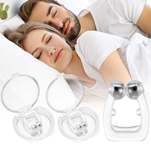 Schnarchstopper, Magnetisch Nasenklammer,Gegen Schnarchen Nasenspreizer aus Weiches Silikon,komfortable und professionelle Anti Schnarch Nasenclip für eine ruhige Nacht (2)