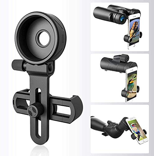Cell Phone Adapter Mount, Binocular monocular Telescope Microscope is Suitable for Almost Any Smartphone-Universal View Finder Phone Mount monoculars Record The Beautiful Life