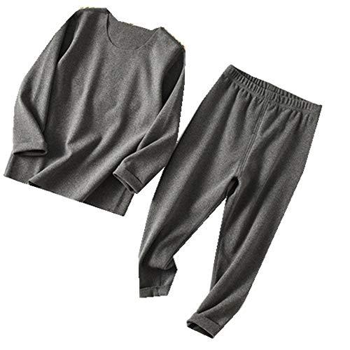 Conjunto de Lana para niños Traje de Ropa Interior de Pijamas para niñas y niños