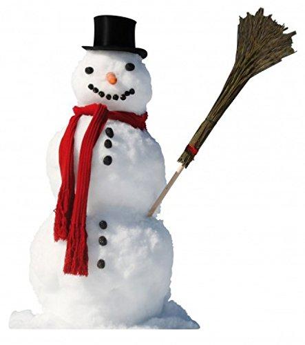 1art1 Winter - Schneemann Mit Rotem Schal Und Reisig-Besen Wand-Tattoo Aufkleber Poster-Sticker 119 x 73 cm