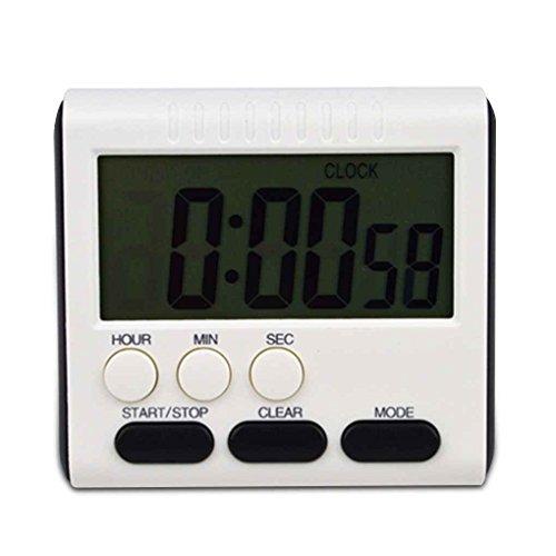 Aiming Tiempo Digital magnética Gran Pantalla Reloj de Cocina, cronómetro LCD Digital Temporizador de Cocina Conde de Alarma para Arriba y Abajo de Reloj de 24 Horas