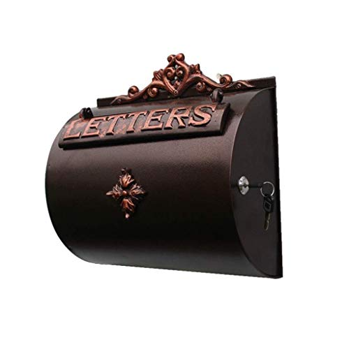 KUNXIAOY Post Box Aged Vintage inspirierte Shabby Chic Large Metal Mailbox Wandeinbau