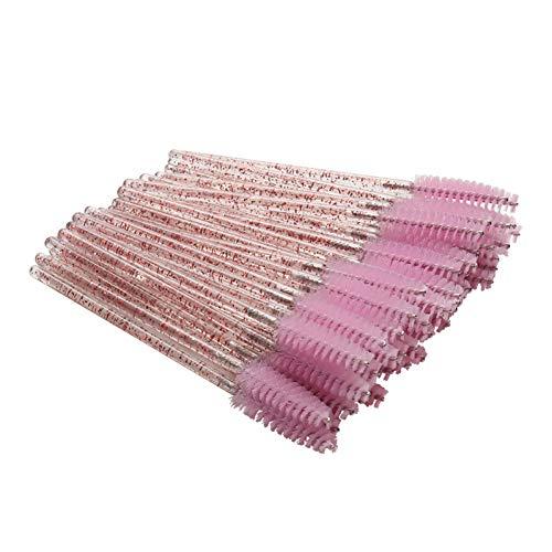 Hhuycvff vwuig 50PCS / Lot Einweg Kristall Wimpernpinsel Beauty Pink Wimpernverlängerung Lieferant...