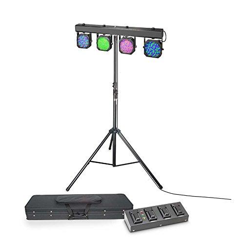 Cameo Light CLMPAR1SET3 Multi PAR 1 Set mit LED Lichtanlage/Transportcase/4-fach Fußpedal/Stativ