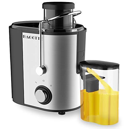 Juicer, Bagotte Juicer Machines Fruit and Vegetable JuicerEasy Clean Juicer, Stainless Steel, Dual-Speed, BPA-Free