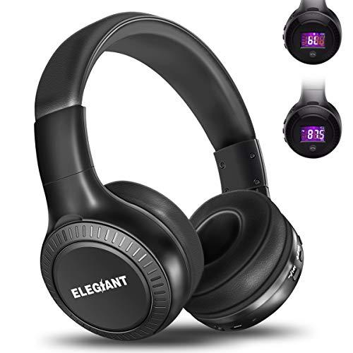 Bluetooth Headphones, ELEGIANT On Ear Bluetooth Headset Foldable with Mic FM...