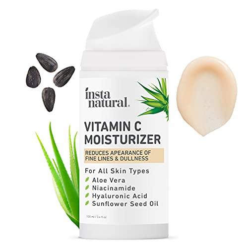 InstaNatural Vitamin C Moisturizer - Anti Aging & Wrinkle Cream - Hyaluronic Acid & Organic Jojoba...