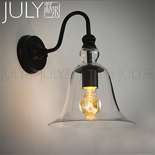 JJZHG wandlamp wandlamp waterdichte wandverlichting komt naar de wandlamp slaapkamer bedlampje balkon kristallen klok glazen klok wandlamp bevat: wandlamp, stoere wandlampen