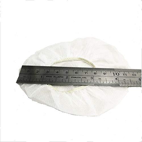 100 Stück Ersatz-Kopfhörerabdeckungen für hygienische Einwegartikel, dehnbar, für 9 ~ 10 cm Ohrhörer, Weiß