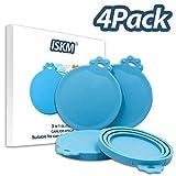ISKM Universal Deckel 4er Pack Futterdosen Hunde und Katzenfutter BPA Frei & FDA Lebensmittelechtem...