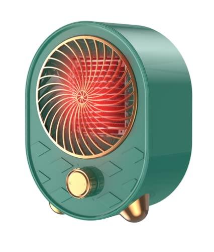 QAZW Riscaldatori Elettrici Mobili Verticale termoventilatore Basso consumo(500W/1000W Scaldino Elettrico da Bagno protenzione Anti-surriscaldamento Portatile Termoconvettore,Green