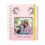Onepersonal - Libreta Personalizada de Tapa dura con Diseño Unicornio | Cuaderno Personalizable con Stamping para Añadir...