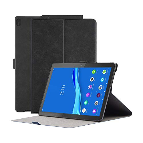 Robustrion Smart Multipurpose Folio Flip Stand Case Cover for Lenovo Tab M10/ Tab M10 HD (Will Not Fit 605LC/M10 FHD Rel) - Black