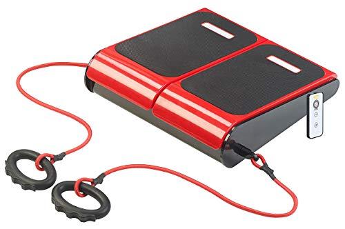 Newgen Medicals Vibrationsplatte: Vibrations-Fußplatte mit 2 Expandern, für Tätigkeiten im Sitzen, 60 W (Vibrationsplatte im Sitzen)