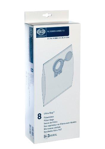 Sebo Filterbox D 8120 für Sebo Airbelt D inklusive 8 Ultra-Bag Elektret-Filtertüten 3-lagig mit Filterdeckel