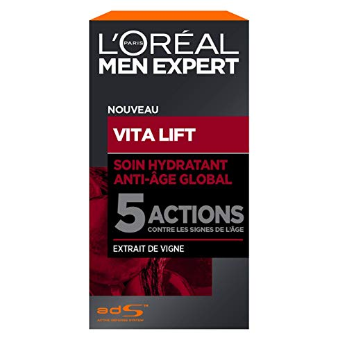 L'Oréal Men Expert - Soin Hydratant Anti-Âge Global pour Homme - Pour Peaux Matures - Vita Lift - 50 ml