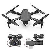 rzoizwko Drone, Mini Drone Plegable con cámara 4K HD FPV WiFi RC Quadcopter, Control de Gestos, Vuelo de trayectoria, Vuelo en círculo, Rotación de Alta Velocidad, Volteos 3D, Sensor G, Modo sin Cabe