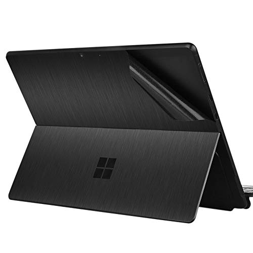 Arisase Ultra Thin Decal Skin Metallic Texture for 13-Inch Microsoft Surface Pro X Protective Skin with Back Sticker (Black)