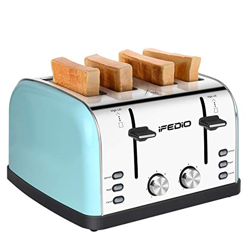 iFedio 4 Slice Toaster