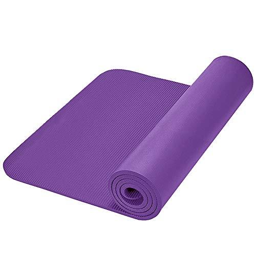 Yogamat Voor Twee Personen, Extra Lang Extra Groot Extra Dik Met Draagriem En Handtas, Nbr Materiaal Antislip Met Draagoefening Trainingsmat, 200cm X 160cm X 15mm,Purple