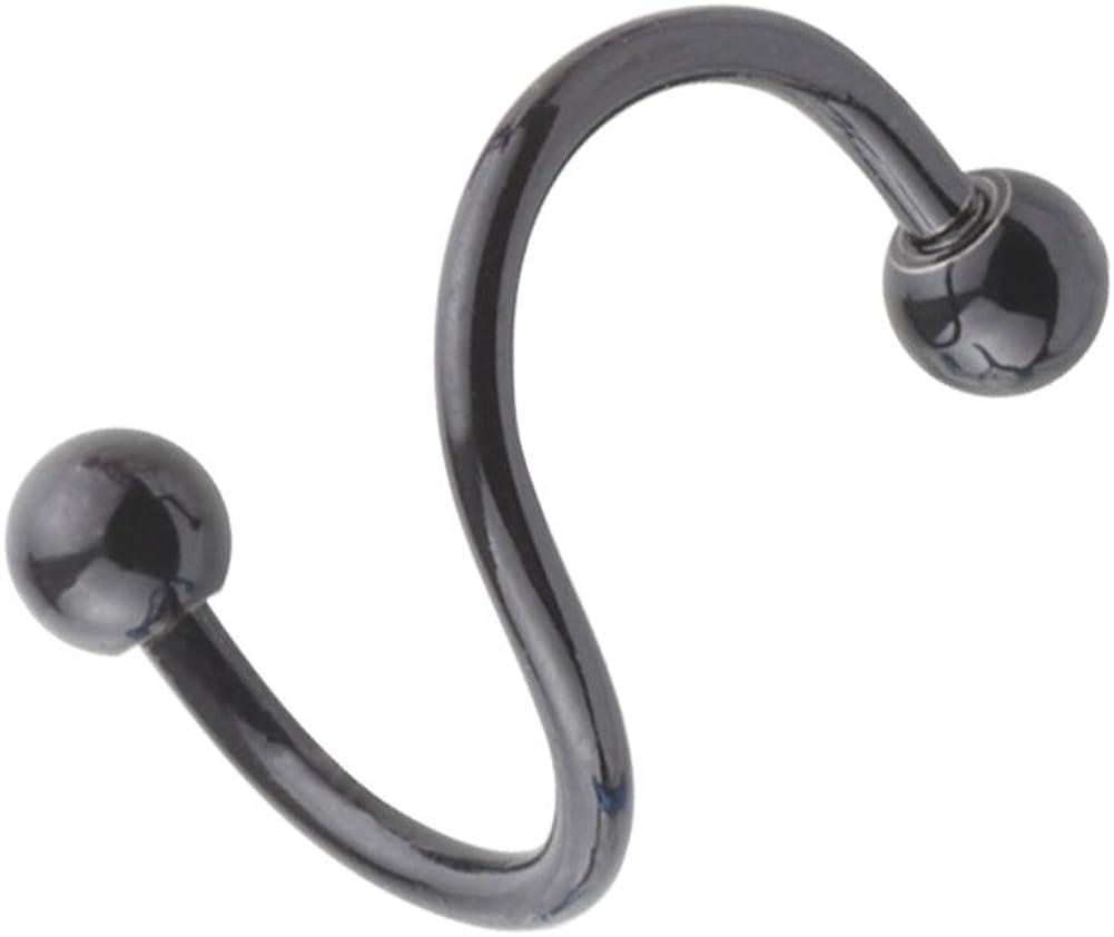 A+'s Stainless Steel S Twist 16G Piercing Inner Ho San Diego Mall Gauge Spasm price