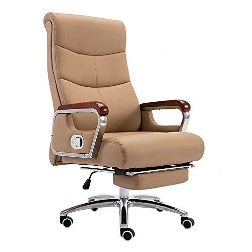 Tägliche Ausrüstung Stuhl Computer Stuhl Hohe Rückenlehne Executive Ergonomischer Büro Schreibtischstuhl mit Fußstütze Leder Schreibtisch Spielstuhl Leder Stoff Höhe Höhenverstellbarer Computer Sch