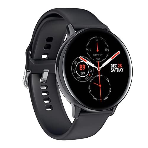 Rvlaugoaa Smartwatch Rastreador De Ejercicios Pulsera Deportiva Inteligente Mensaje Recordatorio De Llamada Pantalla HD Reloj Inteligente De Natación Impermeable para Teléfonos iPhone/Android,Negro