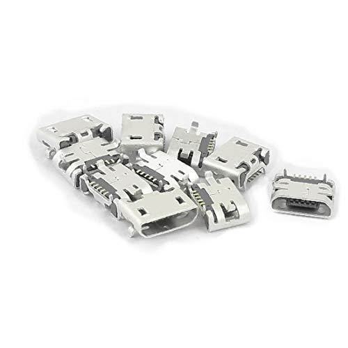 X-DREE 10 Unids Tipo B Micro USB 5 Pin Hembra Jack Port Socket Adaptador de Conector para(10Pcs Type B Micro USB 5 Pin Female Jack Port Socket Connector Adapter for