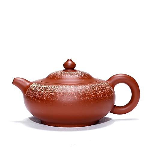 Teapot Tea Maker Pot Yixing Teapot Famous Masters Fanze Hong Yuru Zhuni Hand-sanding Travel Tea Micro Shang Delivery Classic Tea Set (Color : Zhu mud sand, Size : One Size)