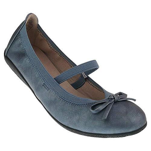 Indigo 422 227 Mädchen Sommer Ballerina Riemchen Schleife blau metallisch Gr.33-39 EUR 36