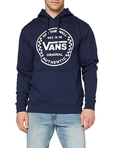 Vans Herren Authentic Checker PO Kapuzenpullover, Dress Blues, L