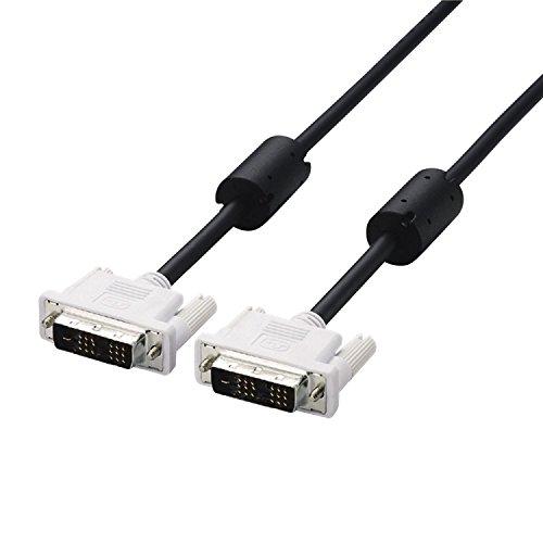 エレコム ディスプレイケーブル DVI-D24pin シングルリンク デジタル 1.5m ブラック CAC-DVSL15BK
