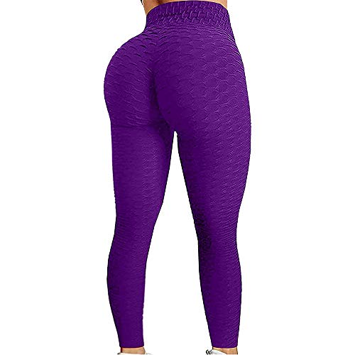 Preisvergleich Produktbild Chagoo Berühmte Tik Tok Leggings,  Hüftlift-Leggings mit hoher Taille und Bauchkontrolle (lila