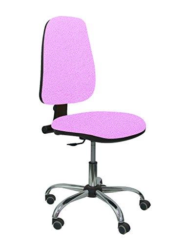 PIQUERAS Y CRESPO Modell 17CP Ergonomischer Bürostuhl mit Permanentkontaktmechanik und höhenverstellbar Sitz und Rücken gepolstert in Stoff BALI farbe flieder