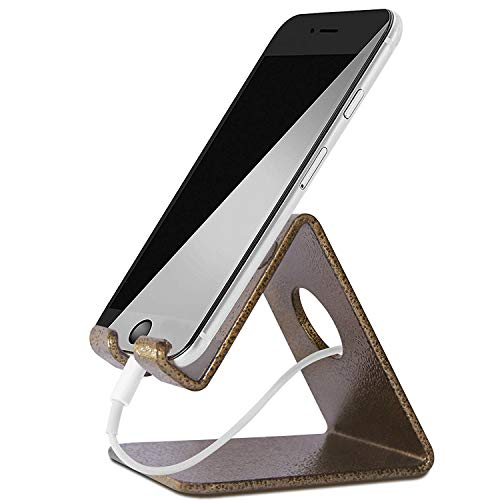 Nex Heavy Duty Mounts Cell Phone Stand for iPhone and Android (Gold)