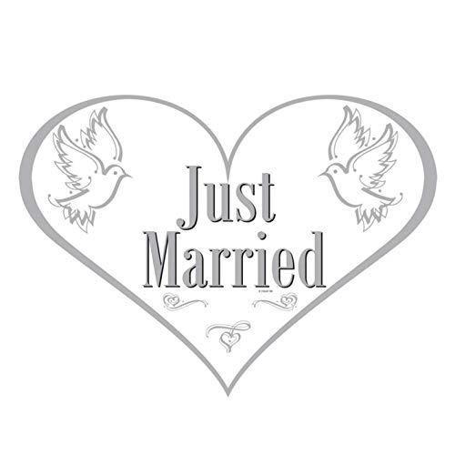 Folat Türschild Just Married Hochzeit Herz