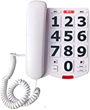 Benotek Corded Big Button Landline Phones for Seniors Home, Single Line Easy to Read Desk Telephone for Visually and Hearing Impaired Old People, Wired Extra Louder Ringer Home Phone