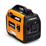 IEKHEM Portable Petrol Inverter Generator, 3100W Pure Sine Wave Instant Power Suitcase Generator, 4 Stroke 145cc, Super Quiet and Lightweight, with 2*230V Outlets, 1*12V DC Receptacle, 2*USB Ports