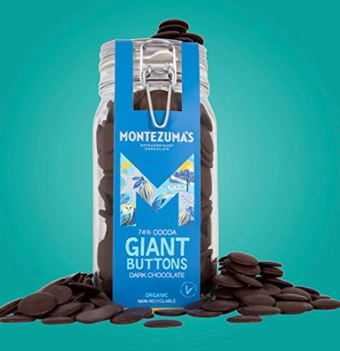 Montezuma's Organic Dark 74% Chocolate Giant Button Jar