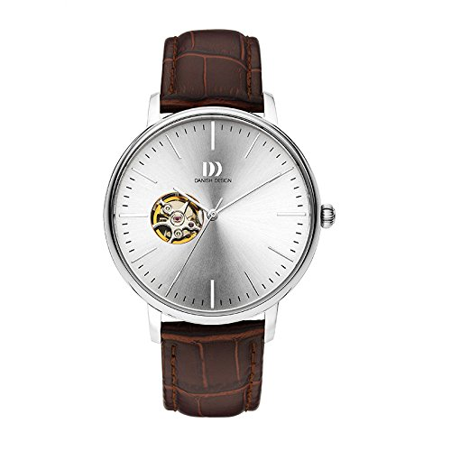 Danish Design Steel Herrenuhr Analog Automaat Leder Braun IQ12Q1160