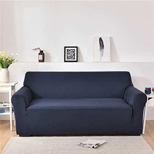 ASCV Fundas de sofá de Spandex para Sala de Estar Color sólido seccional en Forma de L Funda de Esquina Funda de sofá Protector de Silla A7 2 plazas