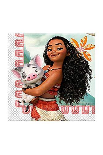 Disney Vaiana Servilletas, Multicolor, Pack de 1 (Procos 49769) , Modelos/colores Surtidos,...