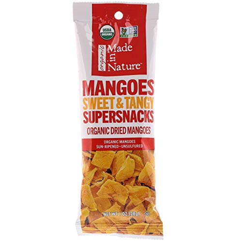 MADE IN NATURE, Mangos, Og2, Dried, Pack of 10, Size 1 OZ, (95%+ Organic)